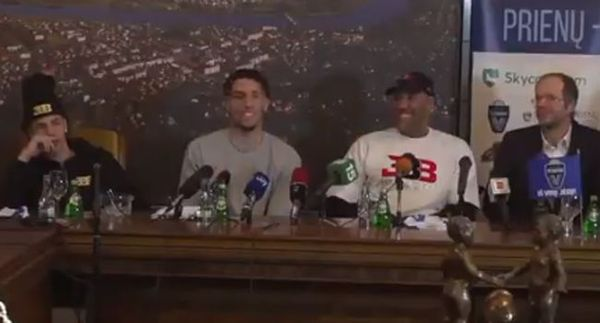 LiAngelo Ball Hit On By Lithuanian Reporter and Freezes Up [VIDEO]