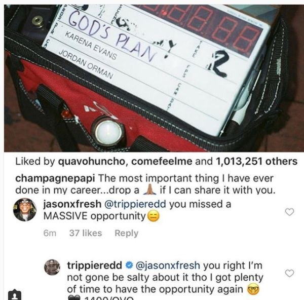 """Trippie Redd Comments On Being Left Off Of Drake's """"God Plan"""""""