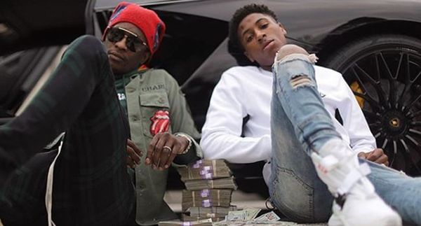 Young Thug Gushes Over Photo of Topless NBA YoungBoy With Thugger Chain In His Mouth