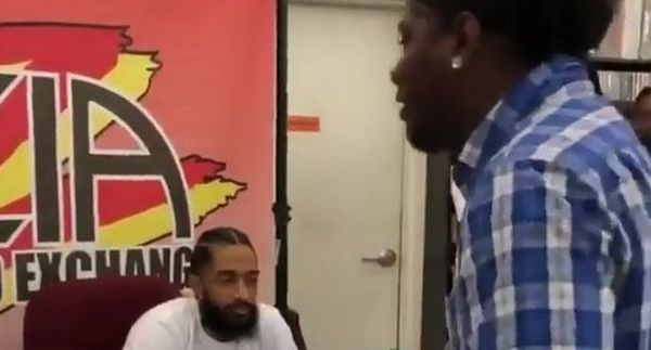 Nipsey Hussle Approached By A Stan Who Begs To Rap For Him [WATCH]