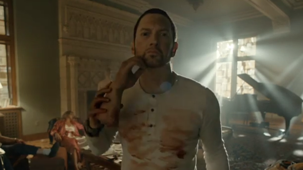 "Eminem Flees An Insane Asylum In ""Framed"" Video"
