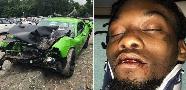 Offset Confirms That Crackhead Caused His Car Accident