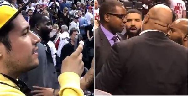 Watch Drake And Kendrick Perkins' Confrontation During Raptors-Cavs