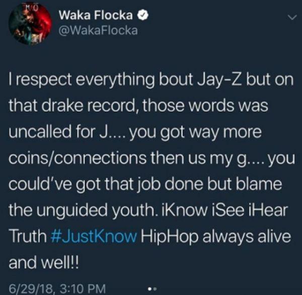 Waka Flocka Isn't Happy With JAY-Z's Zimmerman/XXXTentacion Bar