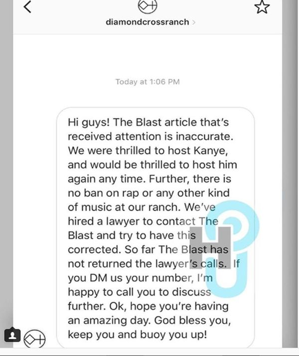 Owner  Wyoming Ranch Responds to Kanye and Rap Music Being Banned