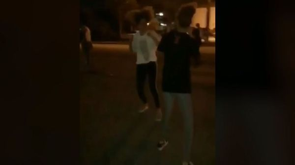 XXXTentacion's Ex-Girlfriend Seen Fighting After Being Kicked Out of Memorial