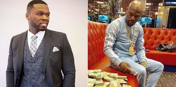 50 Cent Mocks Floyd Mayweather's Return To the Ring To Fight Tenshin Nasukawa