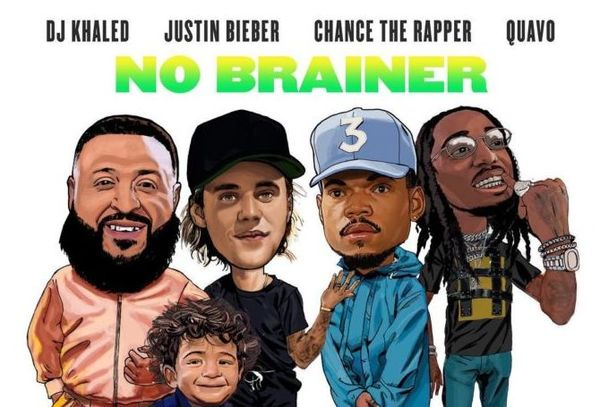 "DJ Khaled Grabs Justin Bieber, Chance The Rapper & Quavo For A ""No Brainer"""