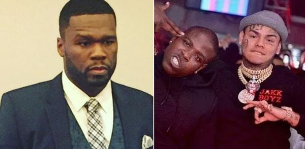 "50 Cent Comments On Report Casanova Shot Up ""Get The Strap"" Video Because of 6ix9ine"