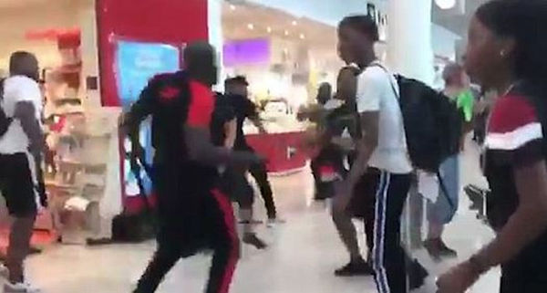 France's Two Most Famous Rappers Brawl With Giant Perfume Bottles In Duty Free Area