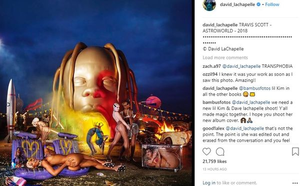"Travis Scott Took Transgender Model Off Of ""Astroworld"" Cover"