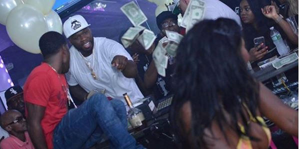 Looks Like 50 Cent Got Caught Taking Money Back At The Strip Club