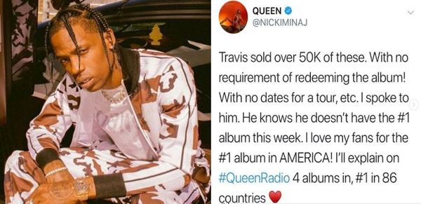 Travis Scott Responds To Nicki Minaj's Claim 'Astroworld' Isn't Number 1