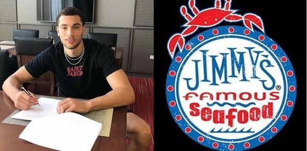 Zach LaVine Ethered By Jimmy's Famous Seafood Restaurant