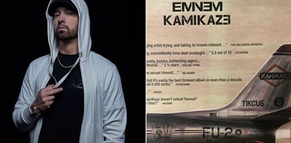 "Eminem Mocks His ""Kamikaze"" Critics With Full Page Magazine Ad"