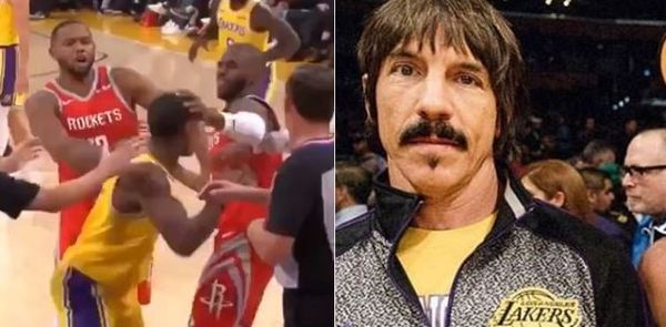 Watch Red Hot Chili Pepper Anthony Kiedis Try To Get At Chris Paul After Rondo-Paul Fight