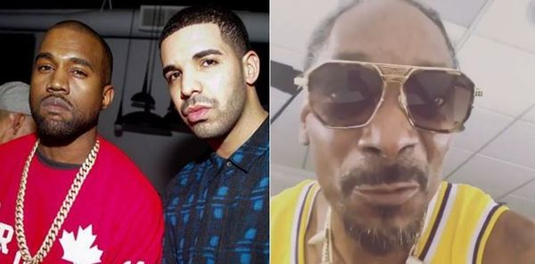 Snoop Dogg Mocks Kanye After Learning Drake Probably Dicked Down Kim Kardashian
