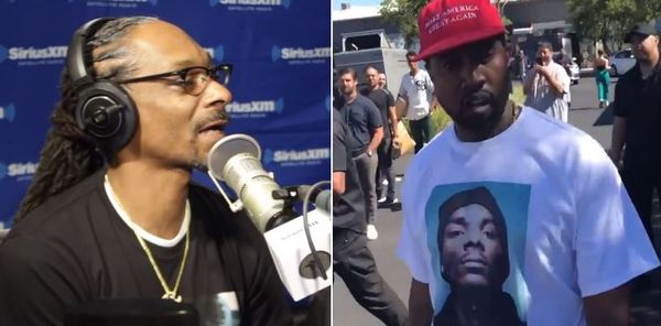 Snoop Dogg Responds After Kanye Pairs A Shirt With Snoop's Face With MAGA Hat