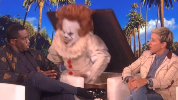 Watch Diddy Get Scared Out Of His Wits By Evil Clown