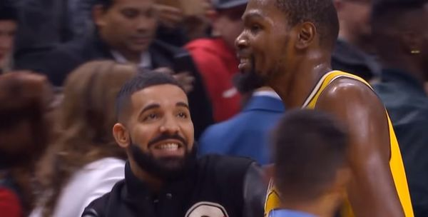 Watch Kevin Durant Give Drake A Titty Twister