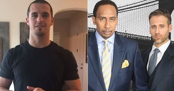Derek Carr Offers Stephen A. Smith And Max Kellerman The Fade