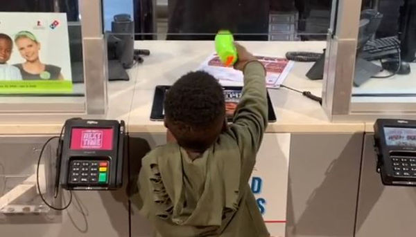 "Kodak Black's Son ""Sticks Up"" Dominos with Fake Firearm"