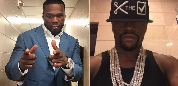 50 Cent Ethers Floyd Mayweather With Photo Of Mary J. Blige Looking Like His Twin