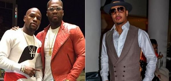 50 Cent Mocks Floyd Mayweather's Reaction To T.I.'s Gucci Blackface Diss