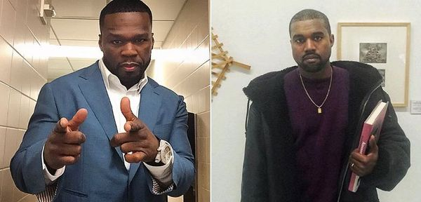 50 Cent Smacks Kanye West With Fake News Story