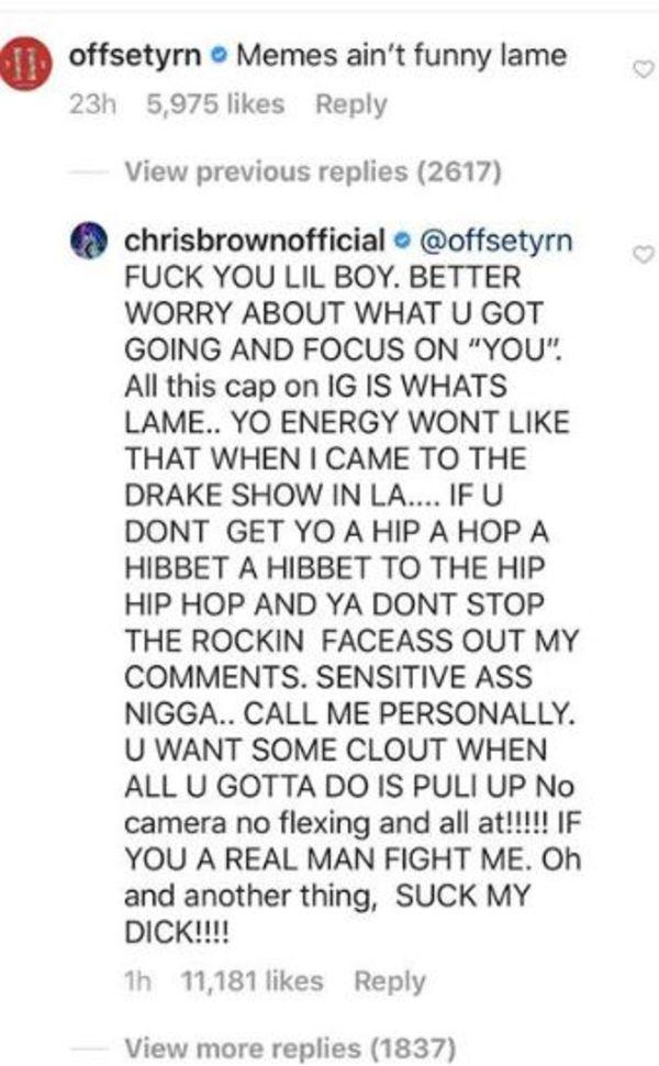 Chris Brown Goes Nuts On Offset In 21 Savage Beef
