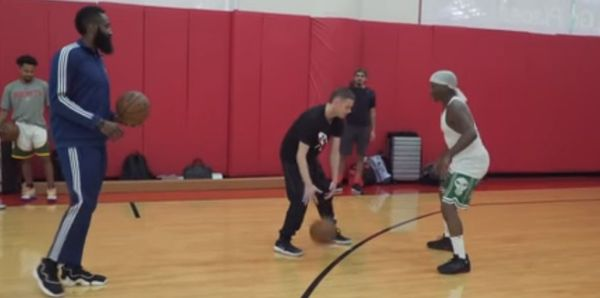 "The Professor Teaches James Harden How To Do ""The Teleport"" Move"
