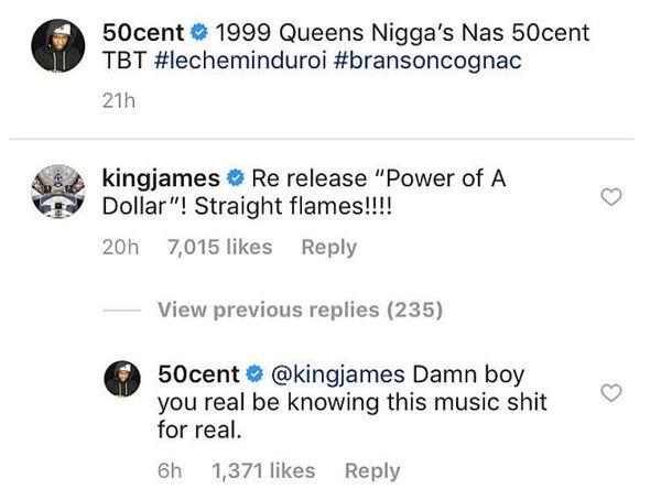 LeBron James Wants 50 Cent To Re-Release One Of His Unofficial Albums