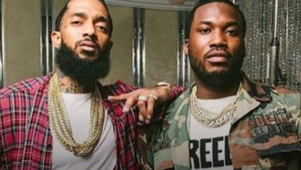 Meek Mill Honors Nipsey Hussle With An Icy Chain [PHOTO]