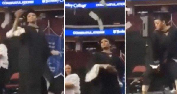 Girl Throws Money In The Air & Twerks At Her Berkeley College Graduation