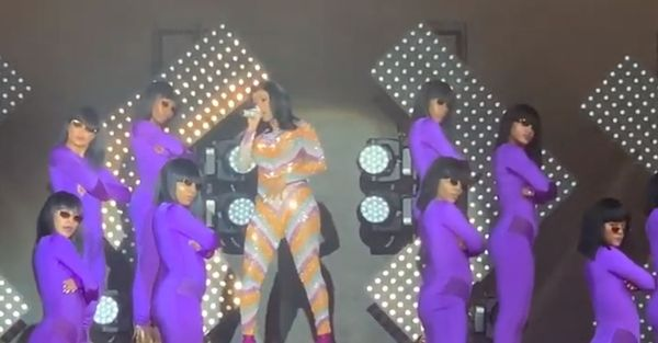 Cardi B Had a Wardrobe Malfunction At Bonnaroo