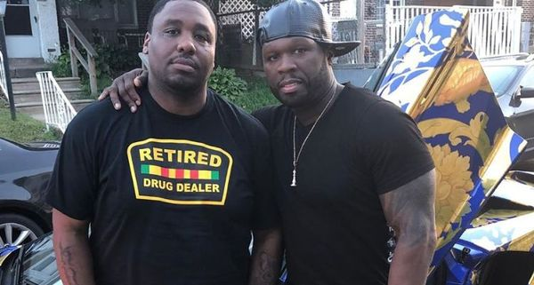 50 Cent Pulls Up On Mike Knox's Block With Two Custom Cars