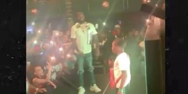 Watch Meek Mill's Son Papi Wow The Crowd with Freestyle