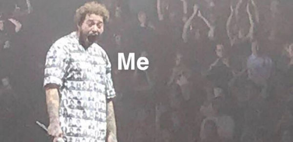 Post Malone's Face While Getting Flashed Is About To Be The Big New Meme