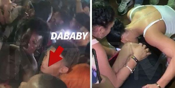 Watch DaBaby's Security Punch A Woman's Lights Out