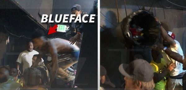 Blueface Jumps Into Middle Of Melee; Show Gets Cancelled