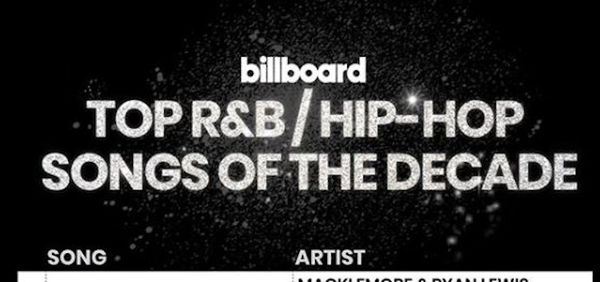Billboard's Top Ten Hip Hop/R&B Songs Of The Decade Will Make Rap Fans Furious