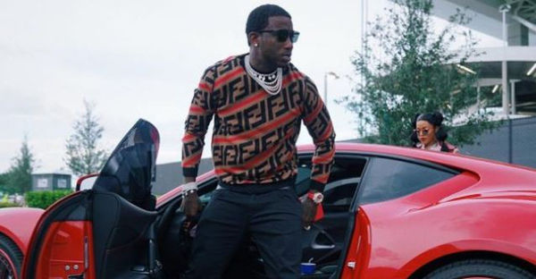 Watch Gucci Mane React To His Ferrari Getting Towed And Damaged