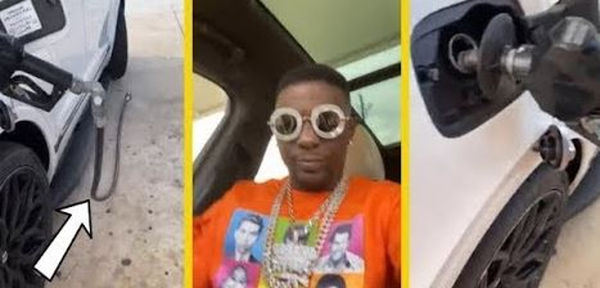 Watch Boosie Badazz Get HIgh & Drive Off With the Gas Pump