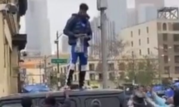 Watch Blueface Throw Bags of Money in Los Angeles' Skid Row