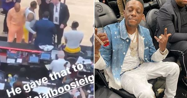 Watch Boosie Badazz Get Signed Jerseys From Lebron James & Anthony Davis After Game