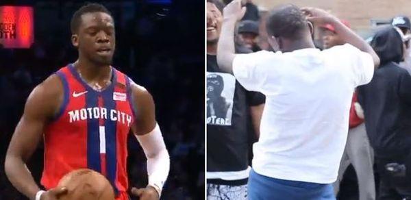 "Reggie Jackson Reacts To Brooklyn Crowd Chanting ""Bobby Shmurda"" at Him"