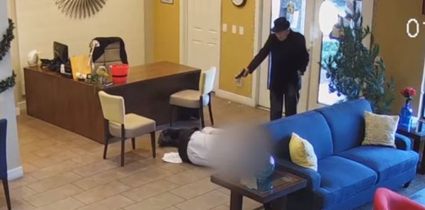 Watch 93 Year Old Pop Two Caps Into Maintenance Man Over Apartment Water Damage
