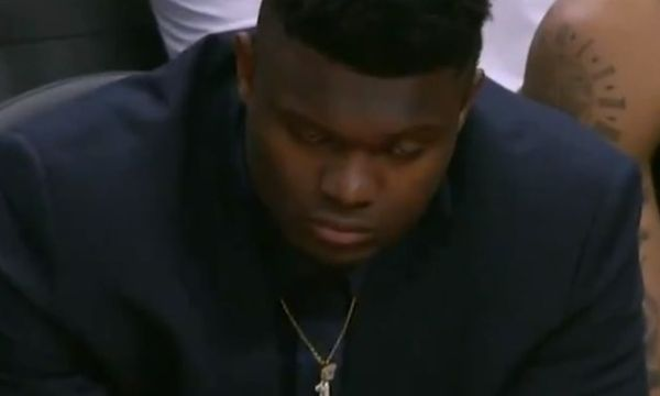 Twitter Reacts To Zion Williamson Dozing Off on Bench