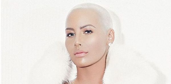 Amber Rose Gives A Close Up View Of Giant Forehead Tattoos