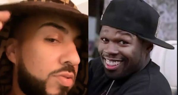 French Montana Is Being Accused Of Wearing Makeup To Cover Up 50 Cent's Punch